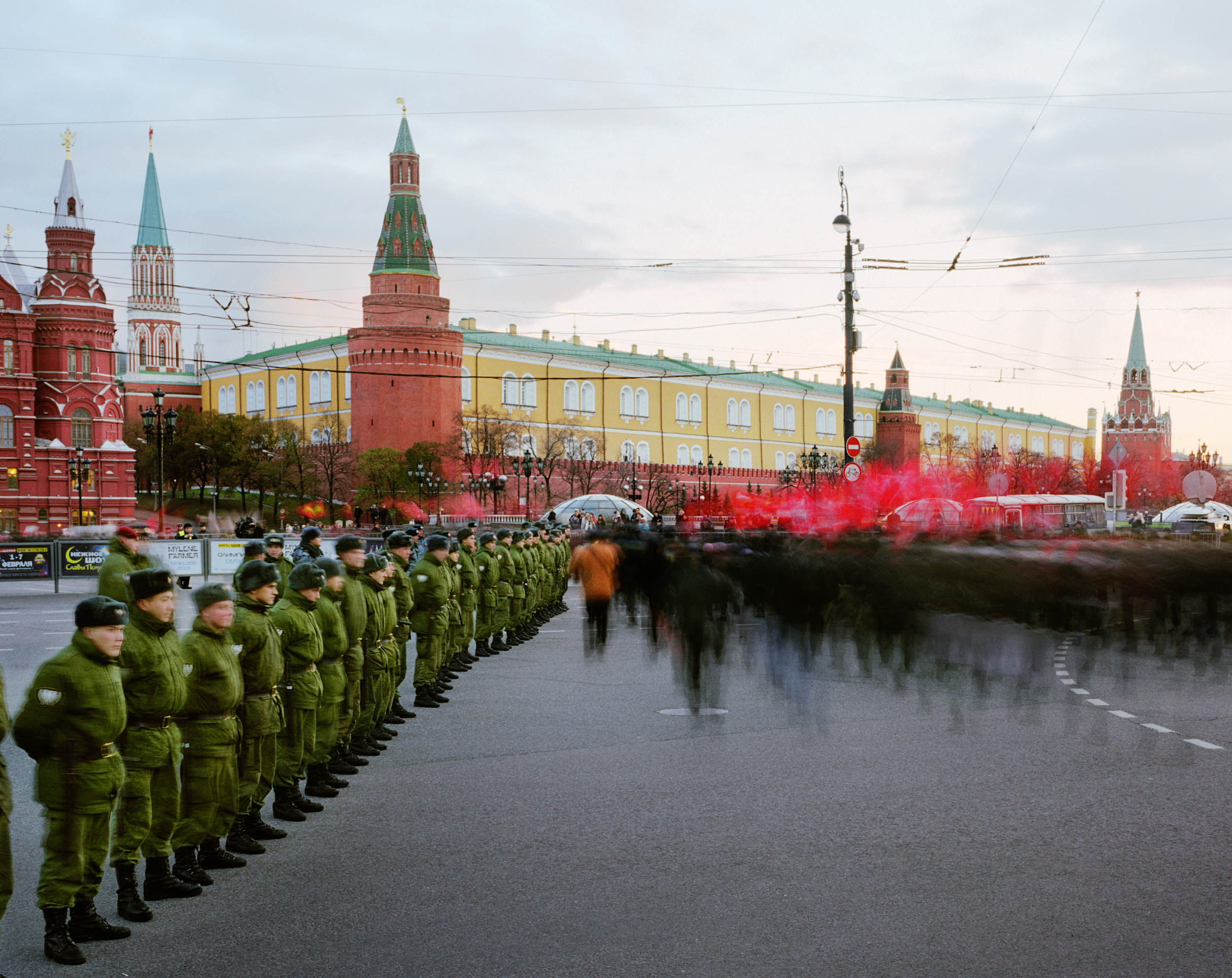 Manezhnaya Ploshchad, Tverskoy Rayon, Moscow, Russia (Communist protestors)