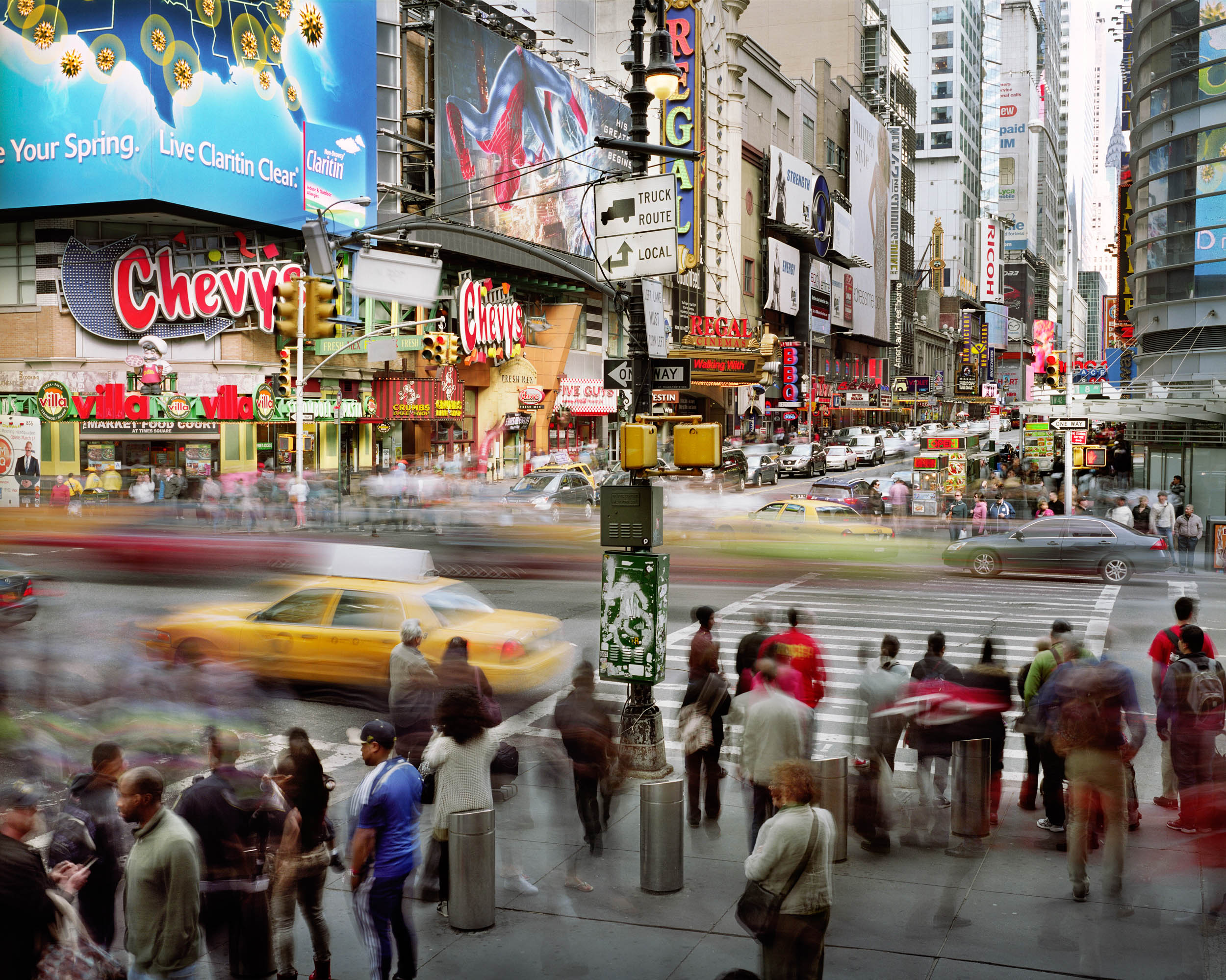 West 42nd Street and 8th Avenue, Manhattan, New York, USA
