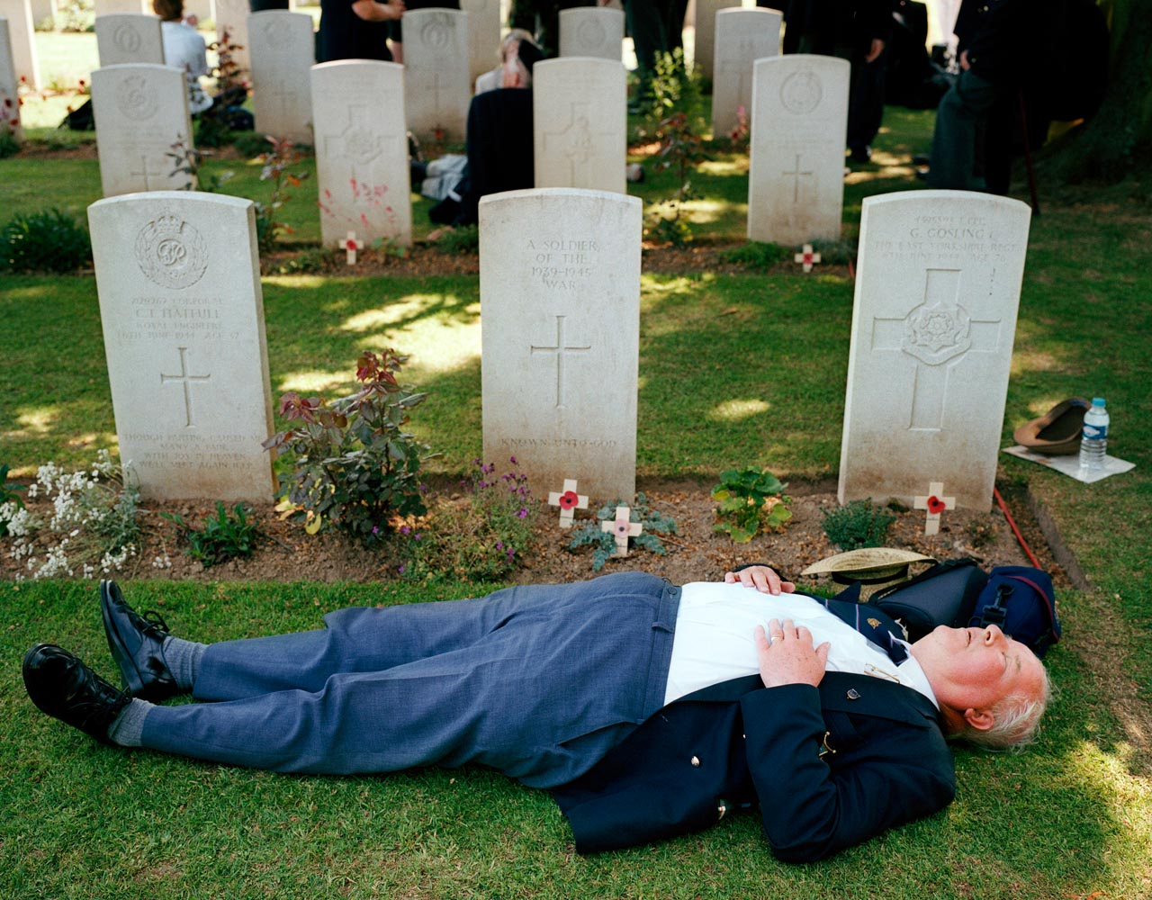 Bayeux, Normandy. D-Day remembrance ceremony at the British War Cemetery