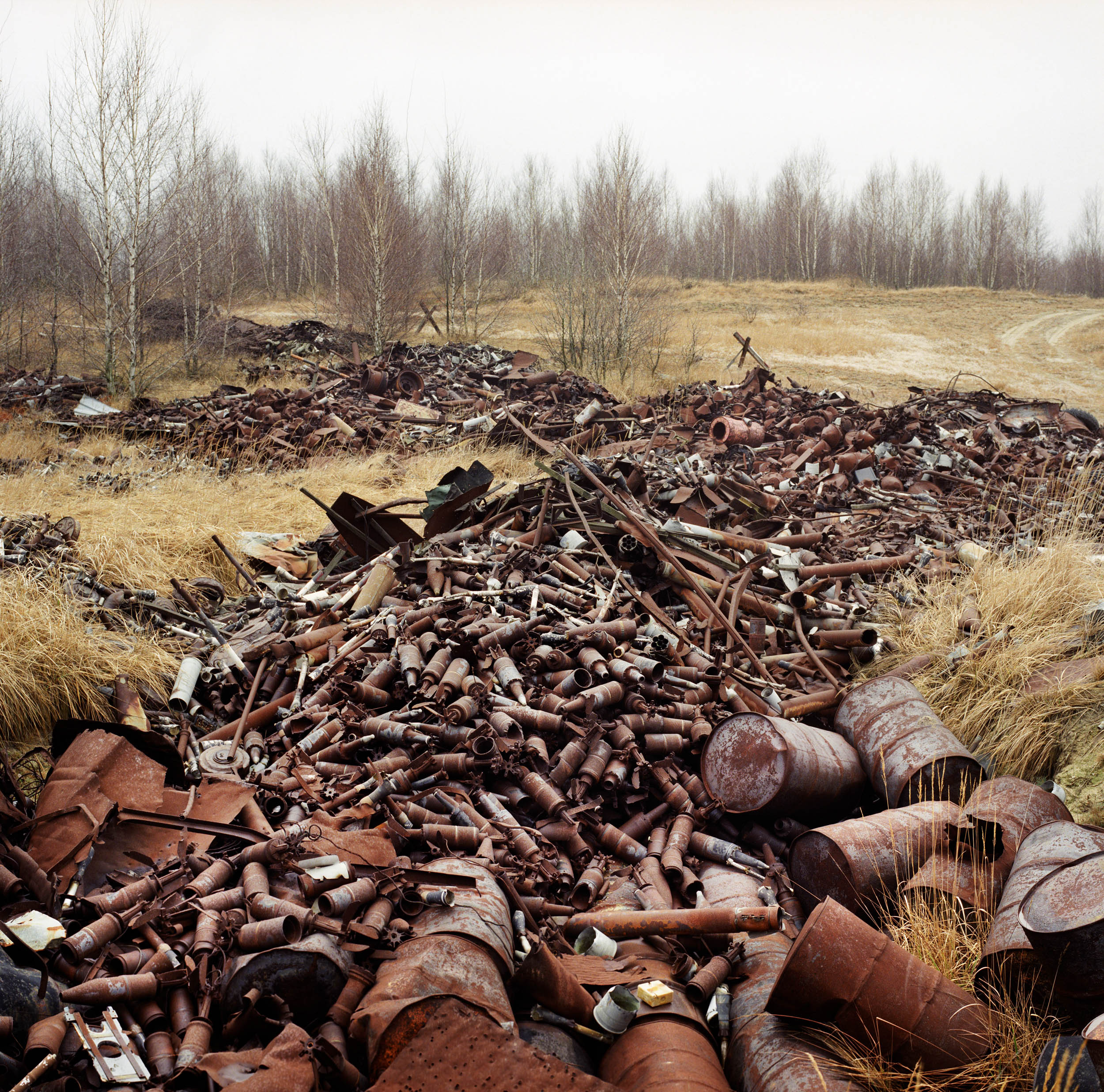 Germany. Ammunition on a Russian shooting range