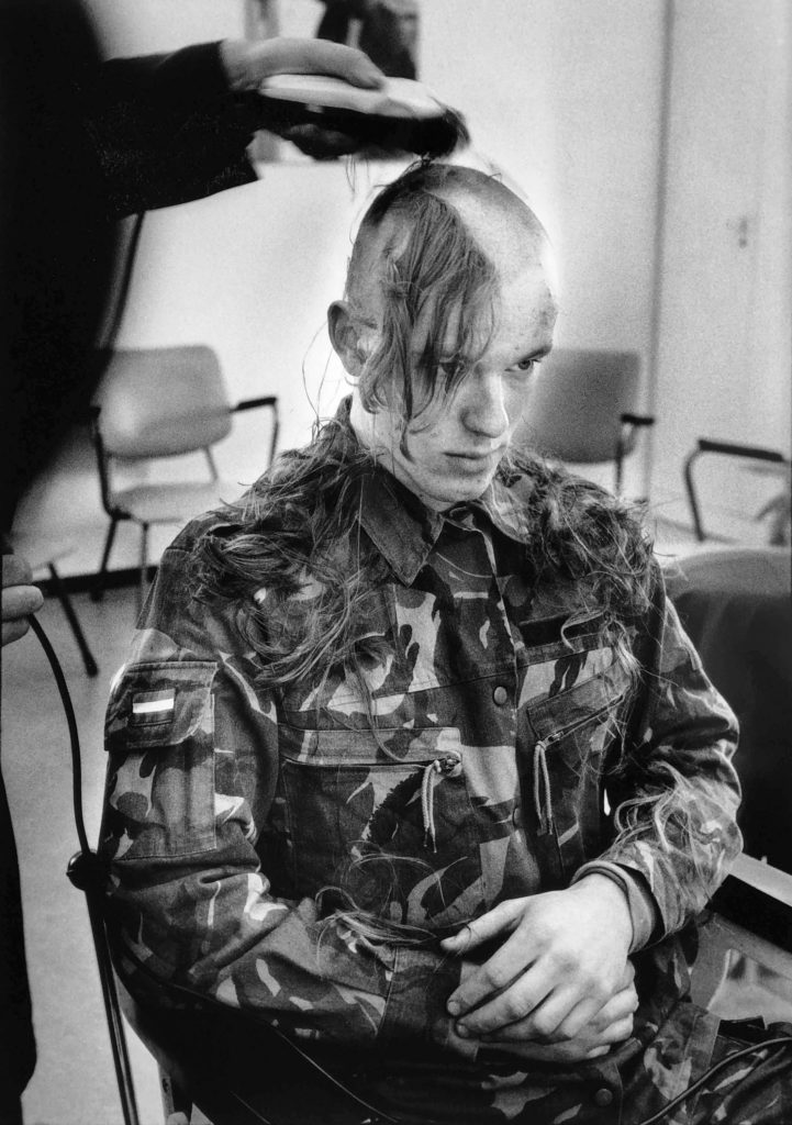 New recruit. Amersfoort, Netherlands, 1995