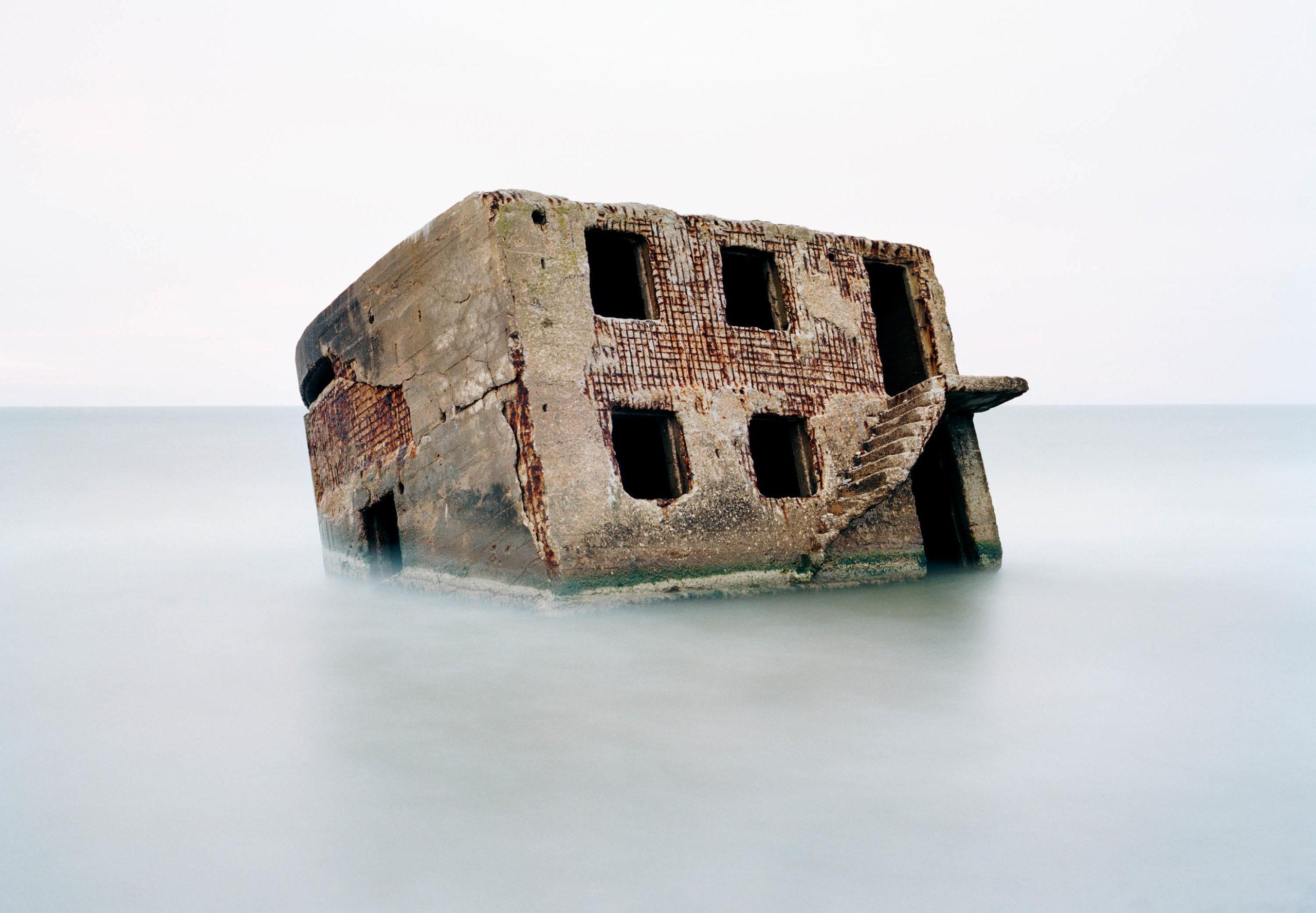 Latvia. Bunker in the Baltic Sea
