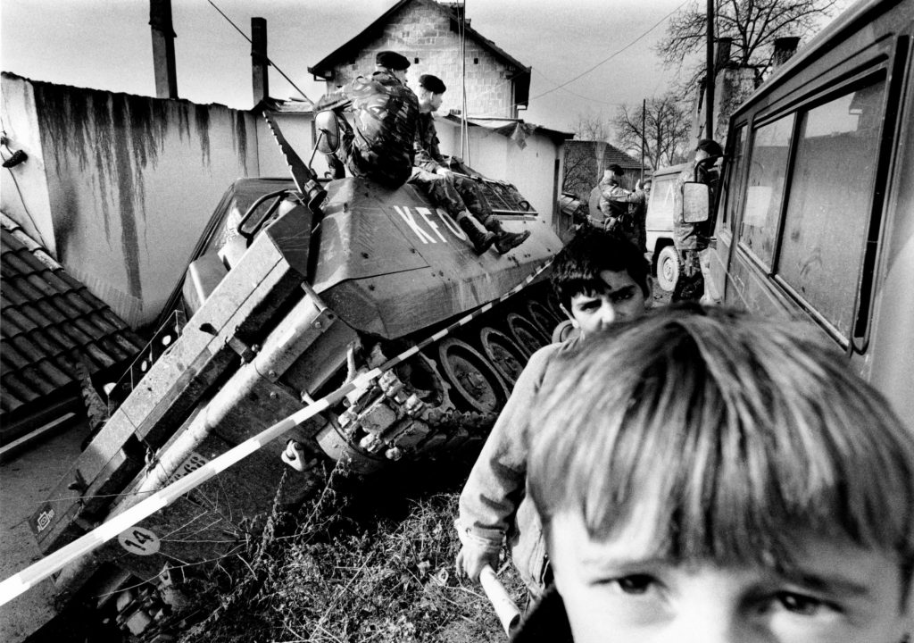 Accident with a Dutch armoured vehicle. Prizren, Kosovo, 1999