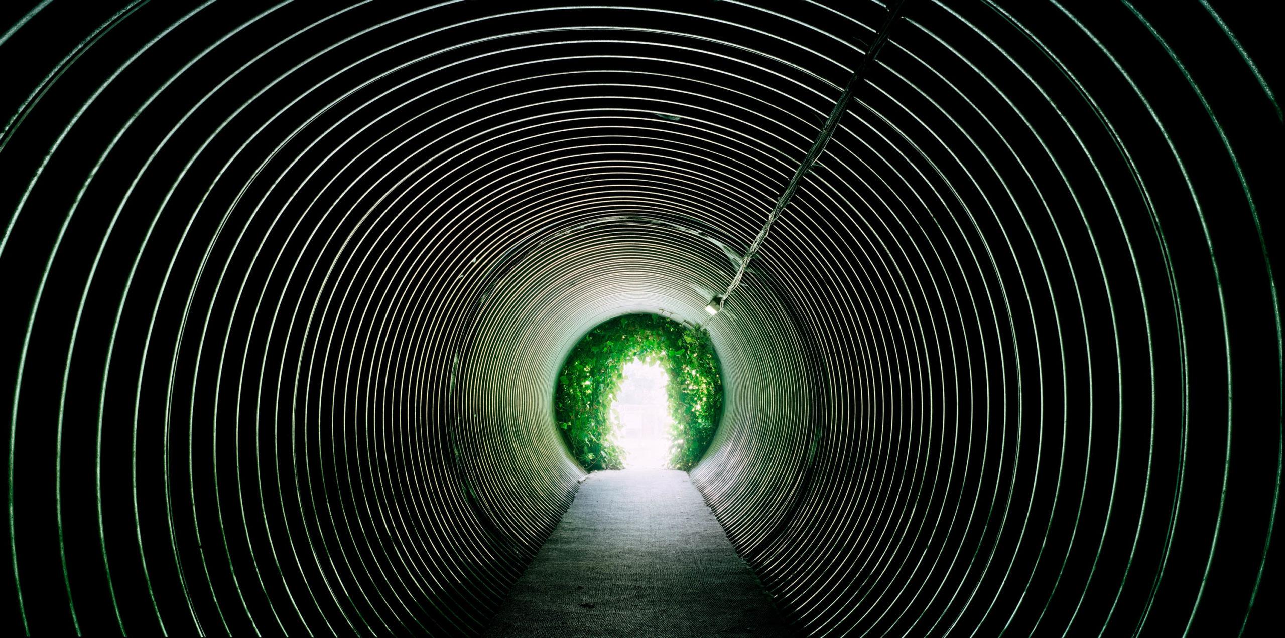 United Kingdom. Exit of an underground bunker