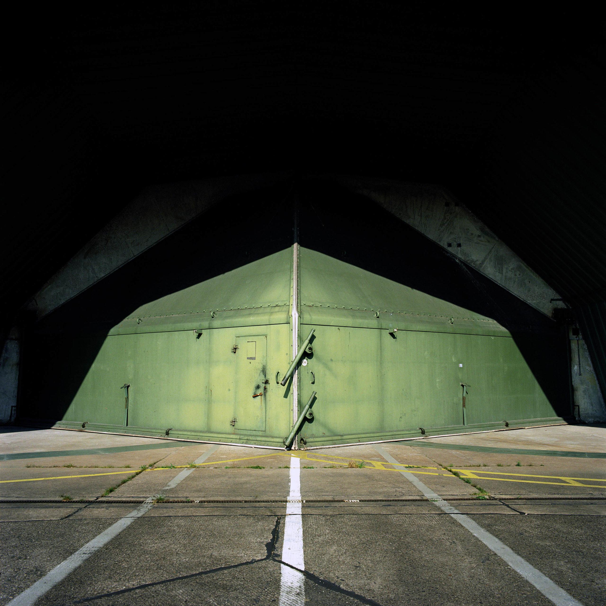 Germany. Airplane shelter at British Royal Air Force base