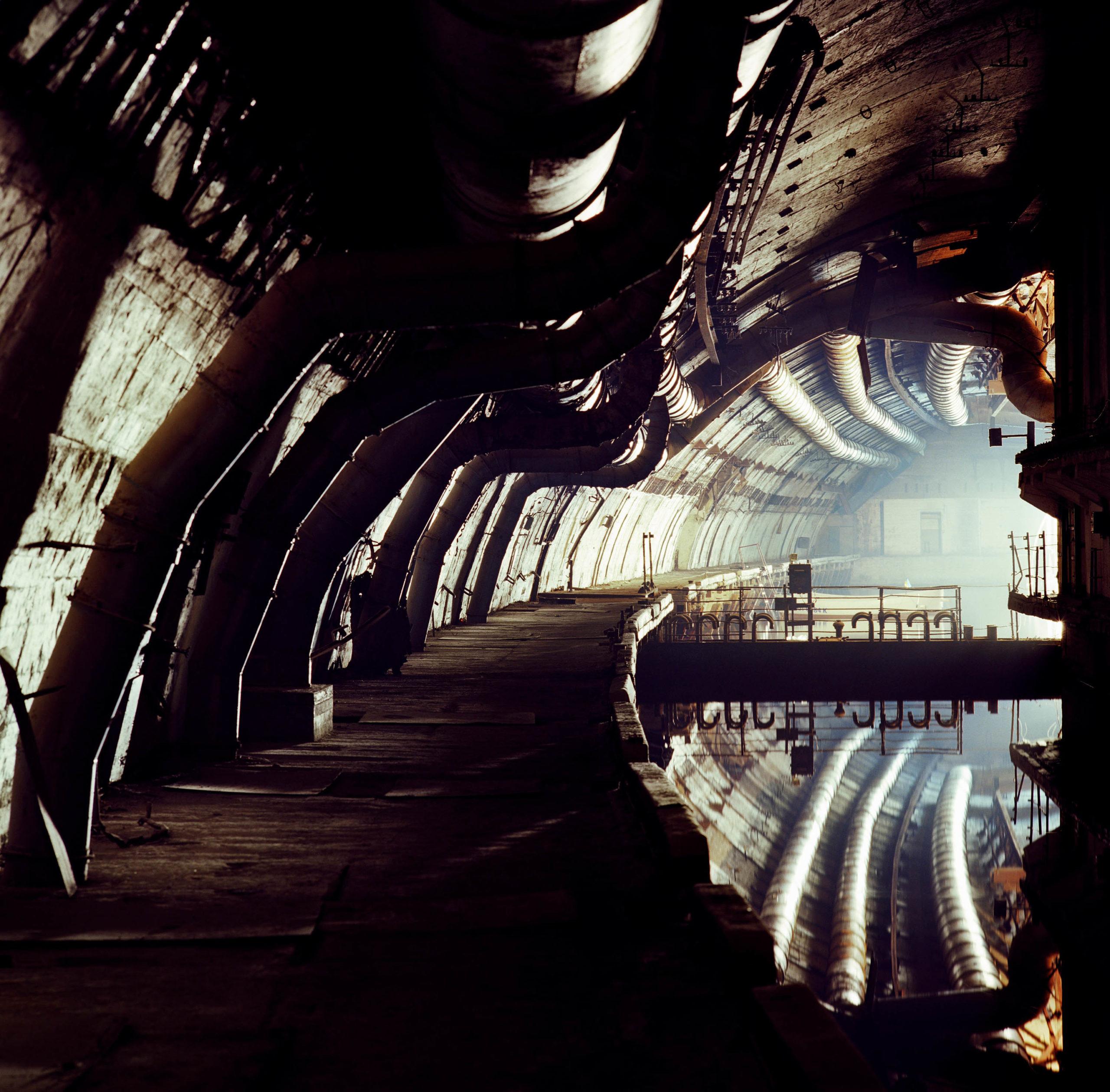 Ukraine. Soviet submarine base