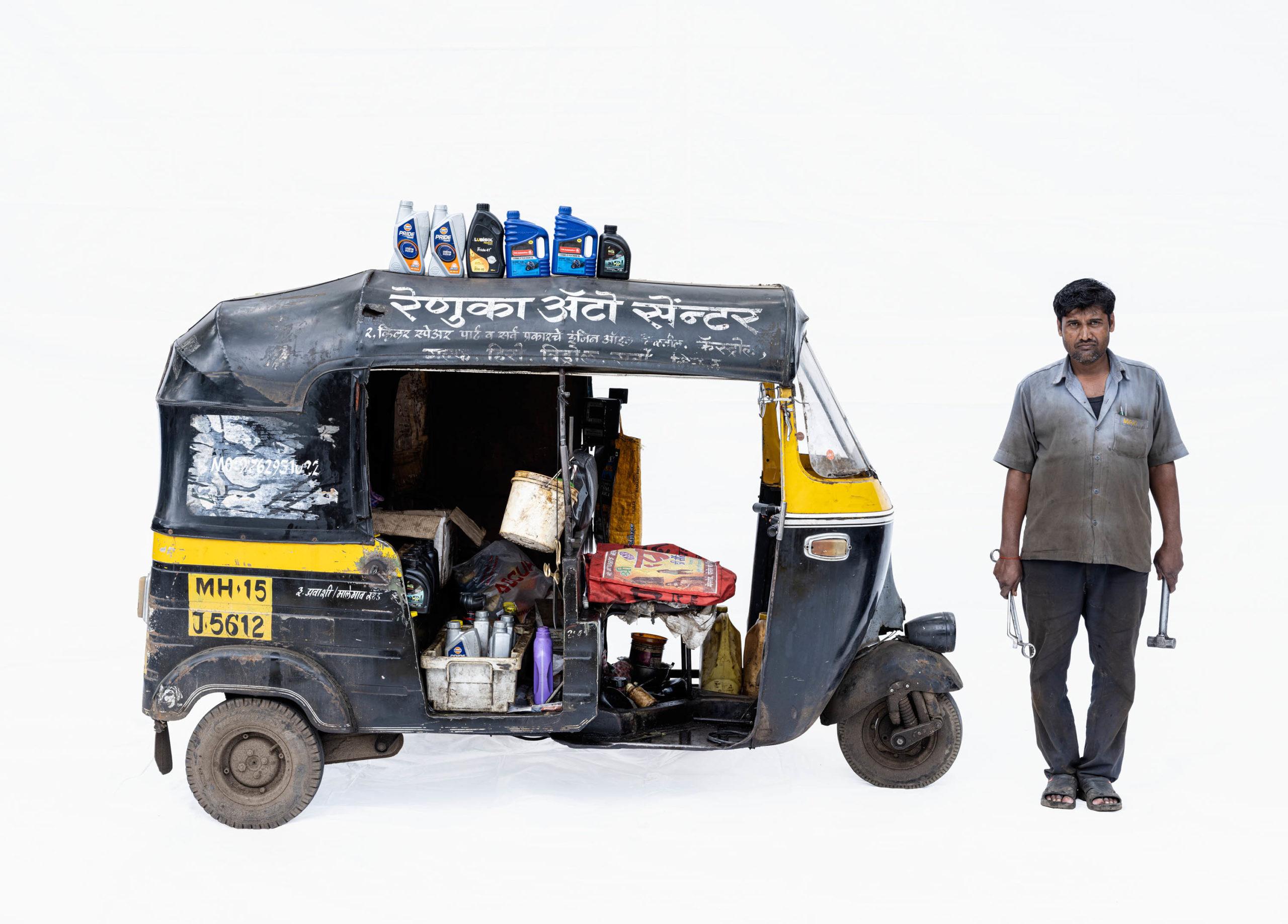 Bajaj autorickshaw #4; Mechanic Harikesh Chavan (Nashik, Maharashtra)
