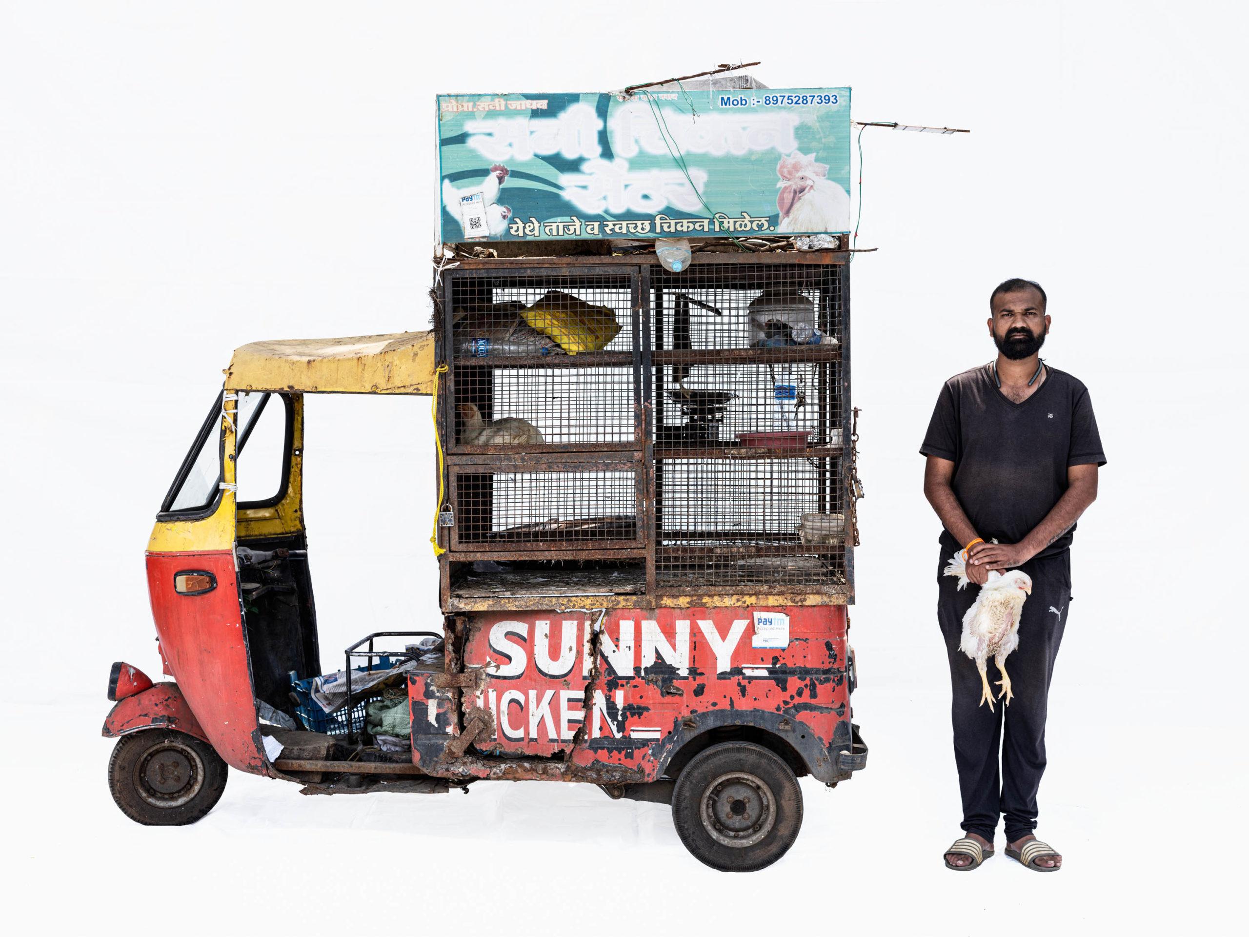 Bajaj autorickshaw #1; Chicken seller Sunny Jadhav (Nashik, Maharashtra)