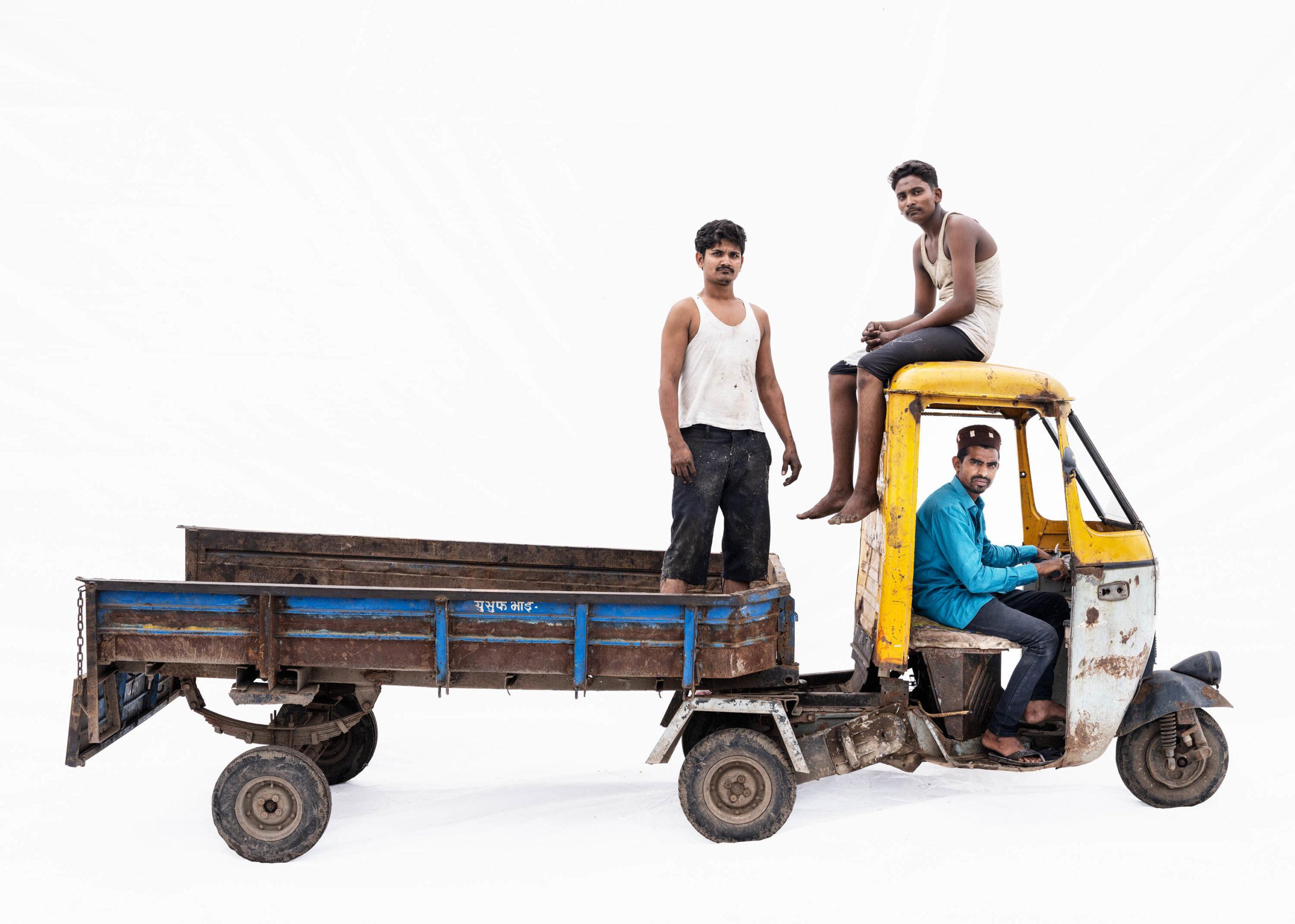 Bajaj autorickshaw #5; Mohammad Aslam, Mohammad Bhaijan, Sabir Shaikh (Malegaon, Maharashtra)