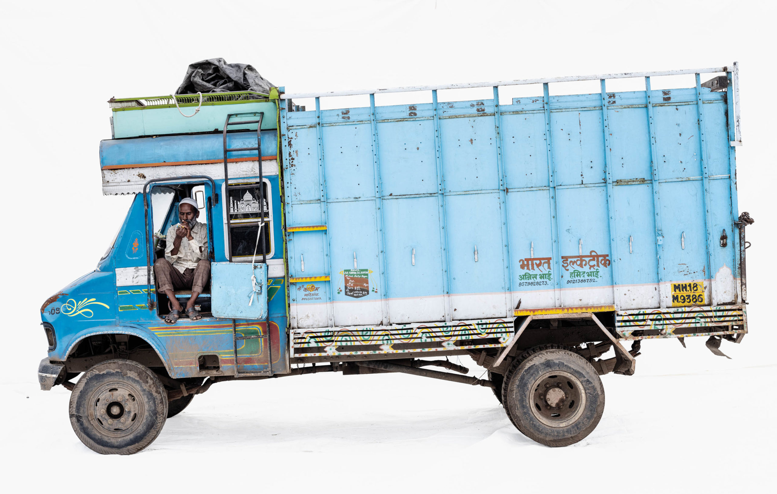 Tata 608 #1; Truck driver Mohammad Khan (Maleagon, Maharashtra)