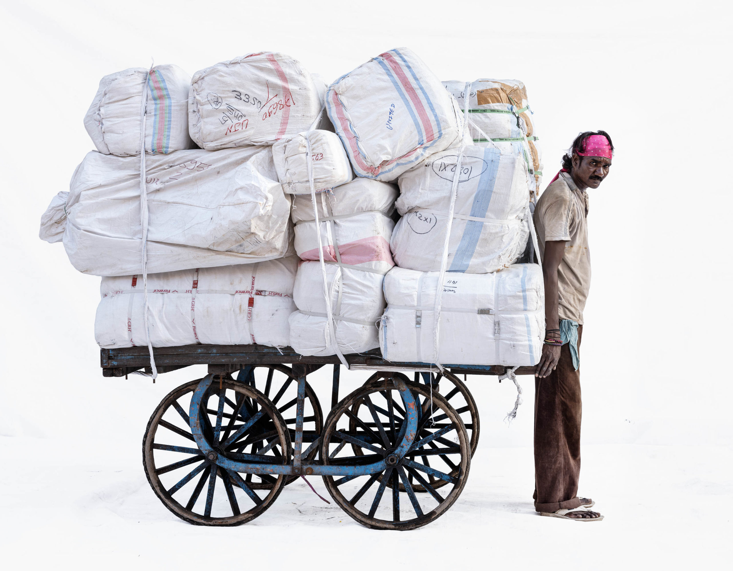 Handcart #1; Courier Sanju Baba (Ujjain, Madhya Pradesh)