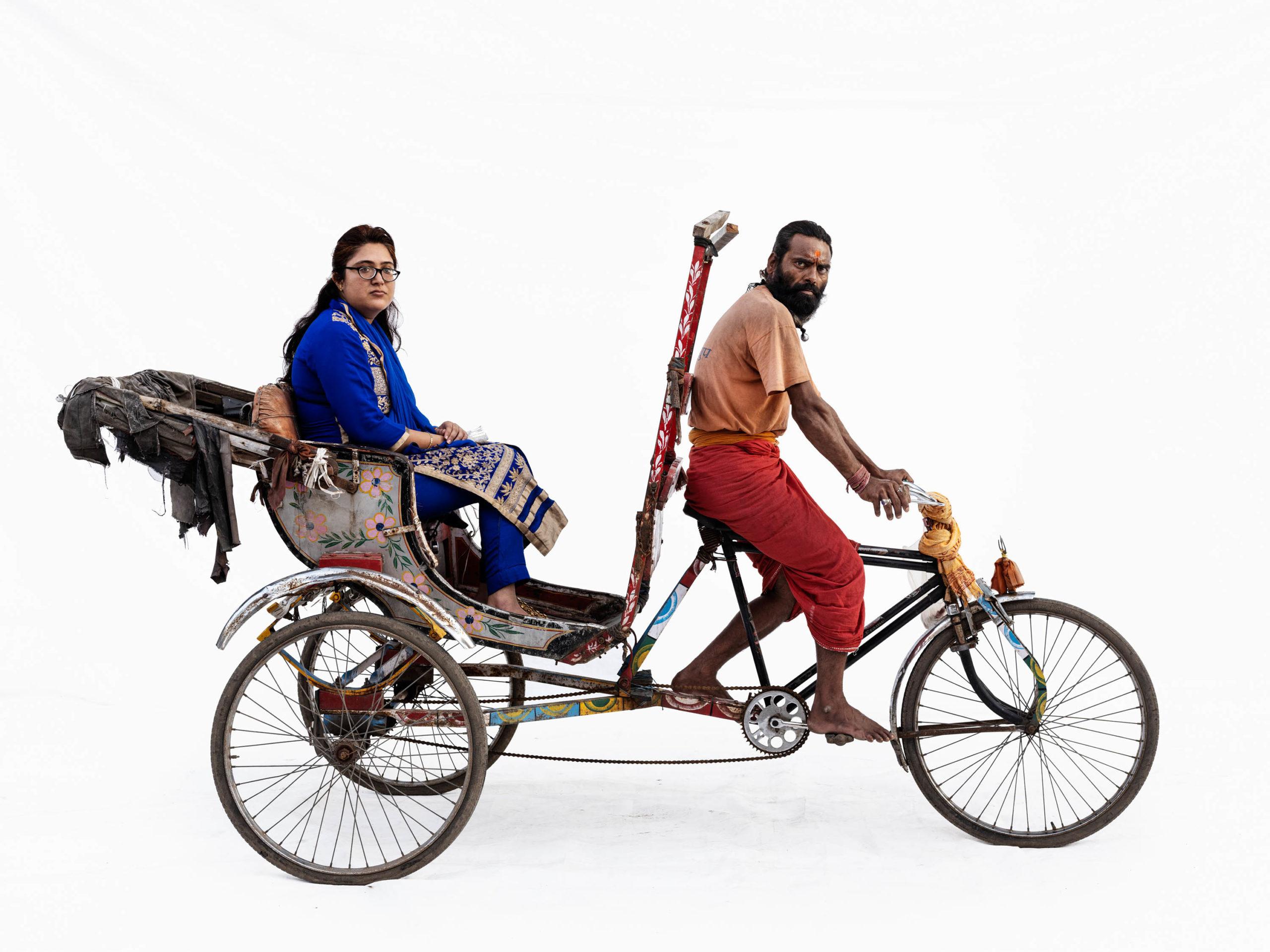 Cycle rickshaw; Mukesh Parmar (driver), Sonakshi Ramlani (Ujjain, Madhya Pradesh)