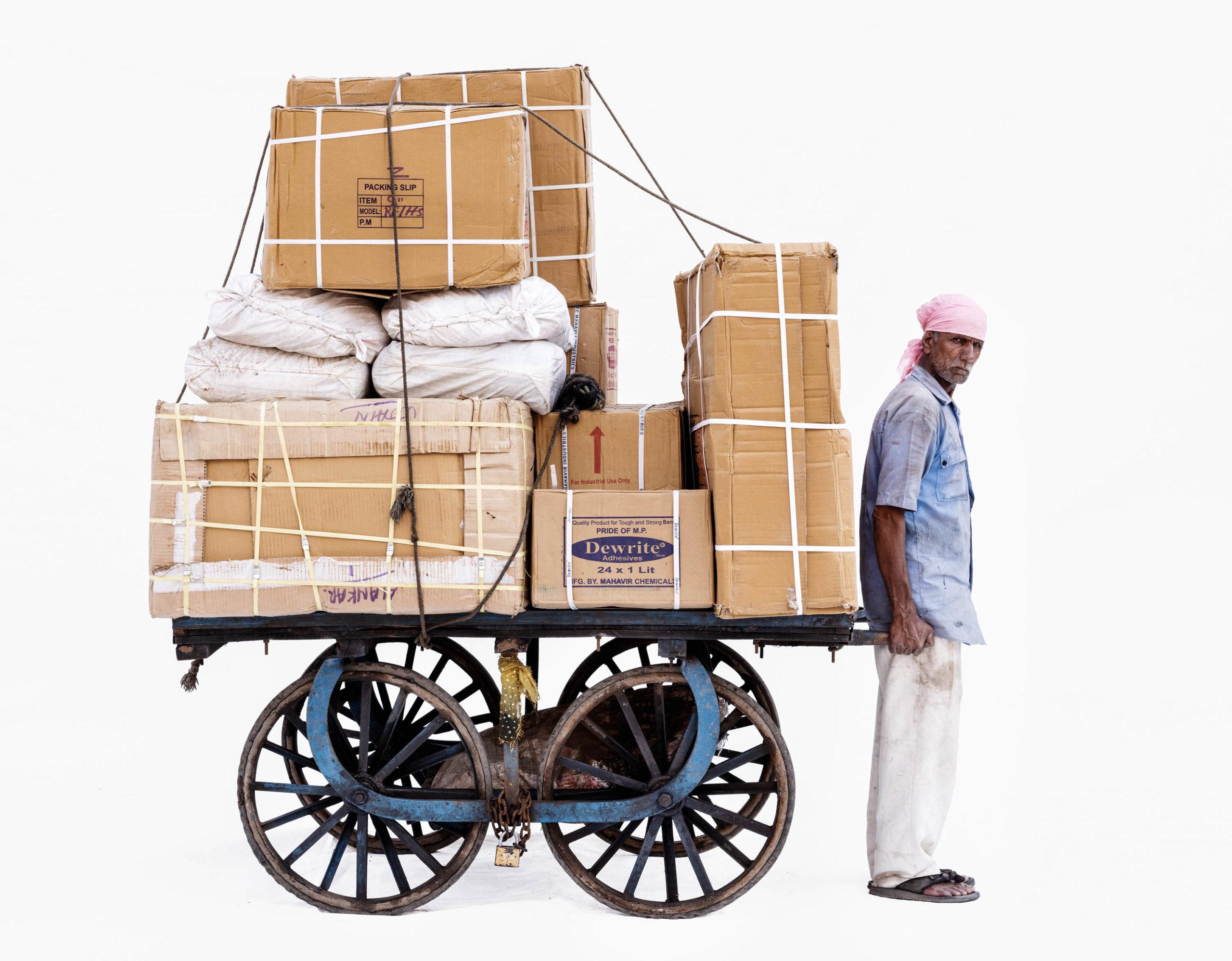 Handcart #2; Courier Sajjan Singh (Ujjain, Madhya Pradesh)