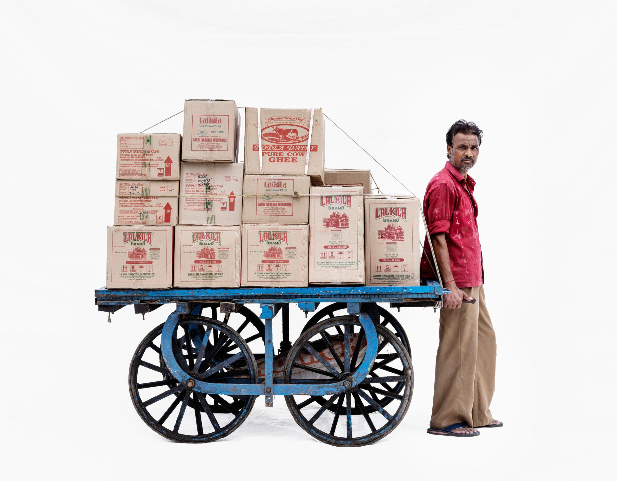 Handcart #3; Courier Bally Koli (Ujjain, Madhya Pradesh)