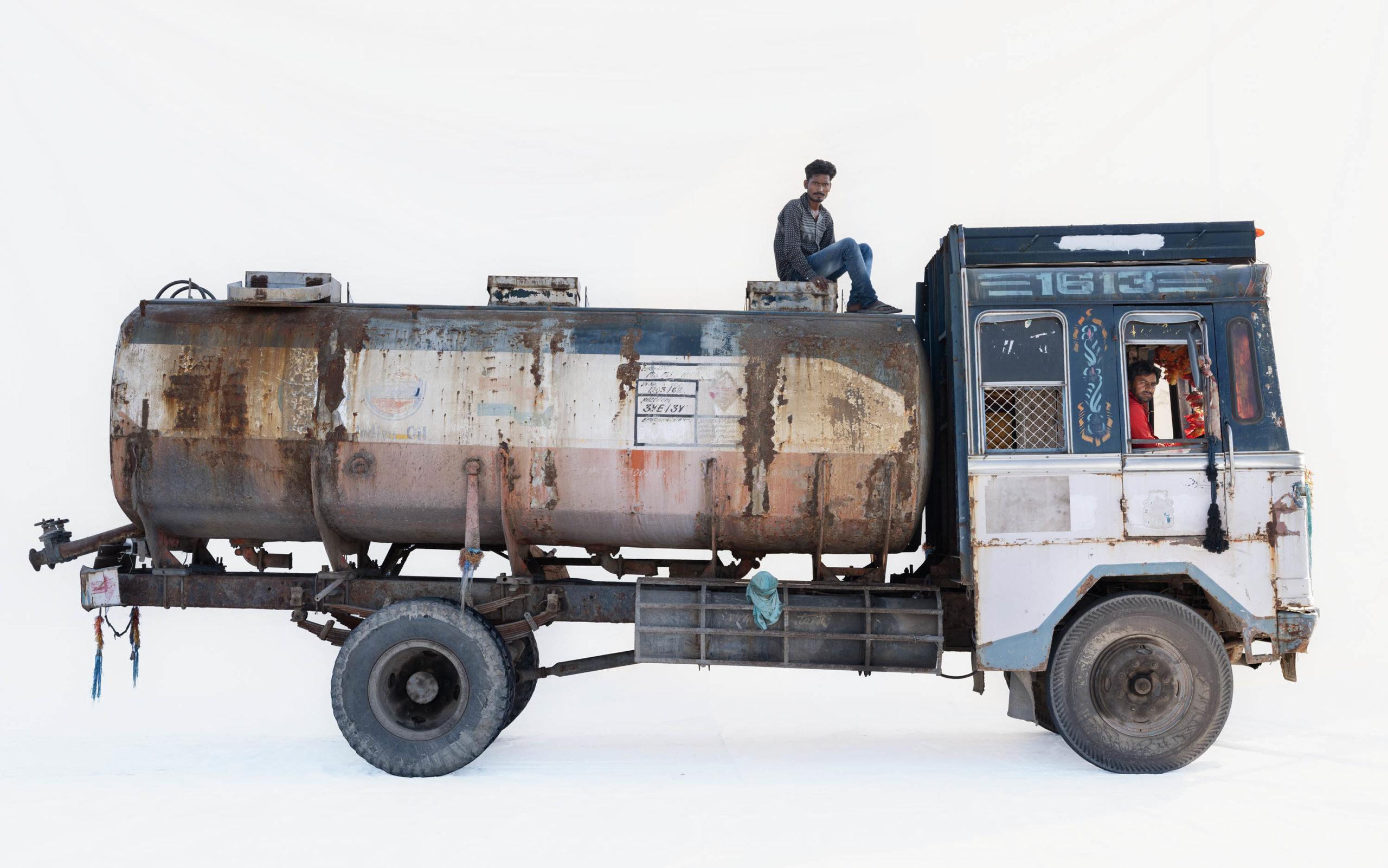 Tata 1613 (1998 model) water tanker; Truck driver Jagdish Airwal (Bhilwara, Rajasthan)