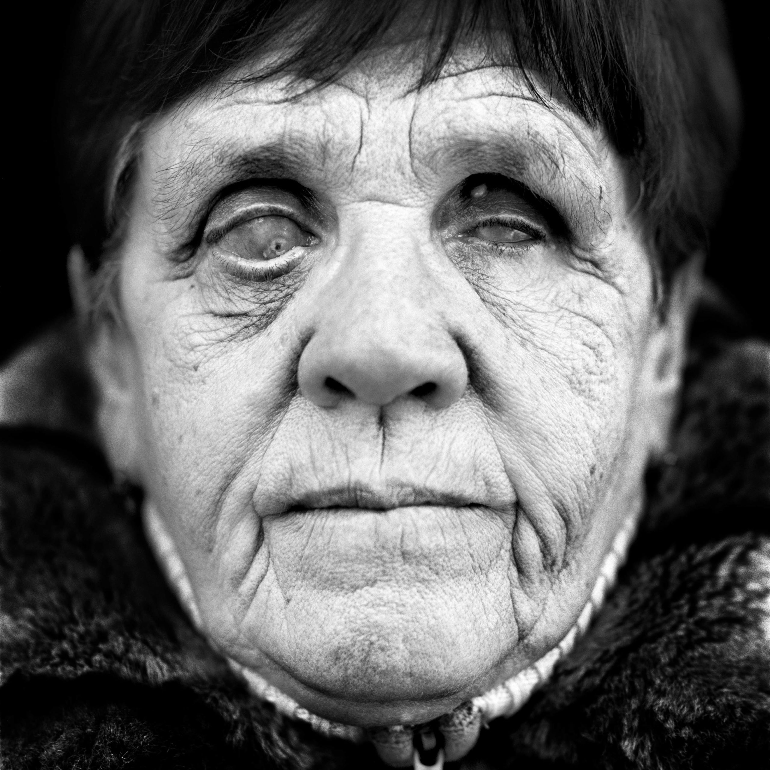 """Elena Griczienko (USSR, 1939). Interview outtake: """"We sat together with the cattle in a train carriage. There was hardly anything to eat, and I was ill. I had symptoms of frostbite in my legs and then in my eyes. I was blind by the spring. """""""