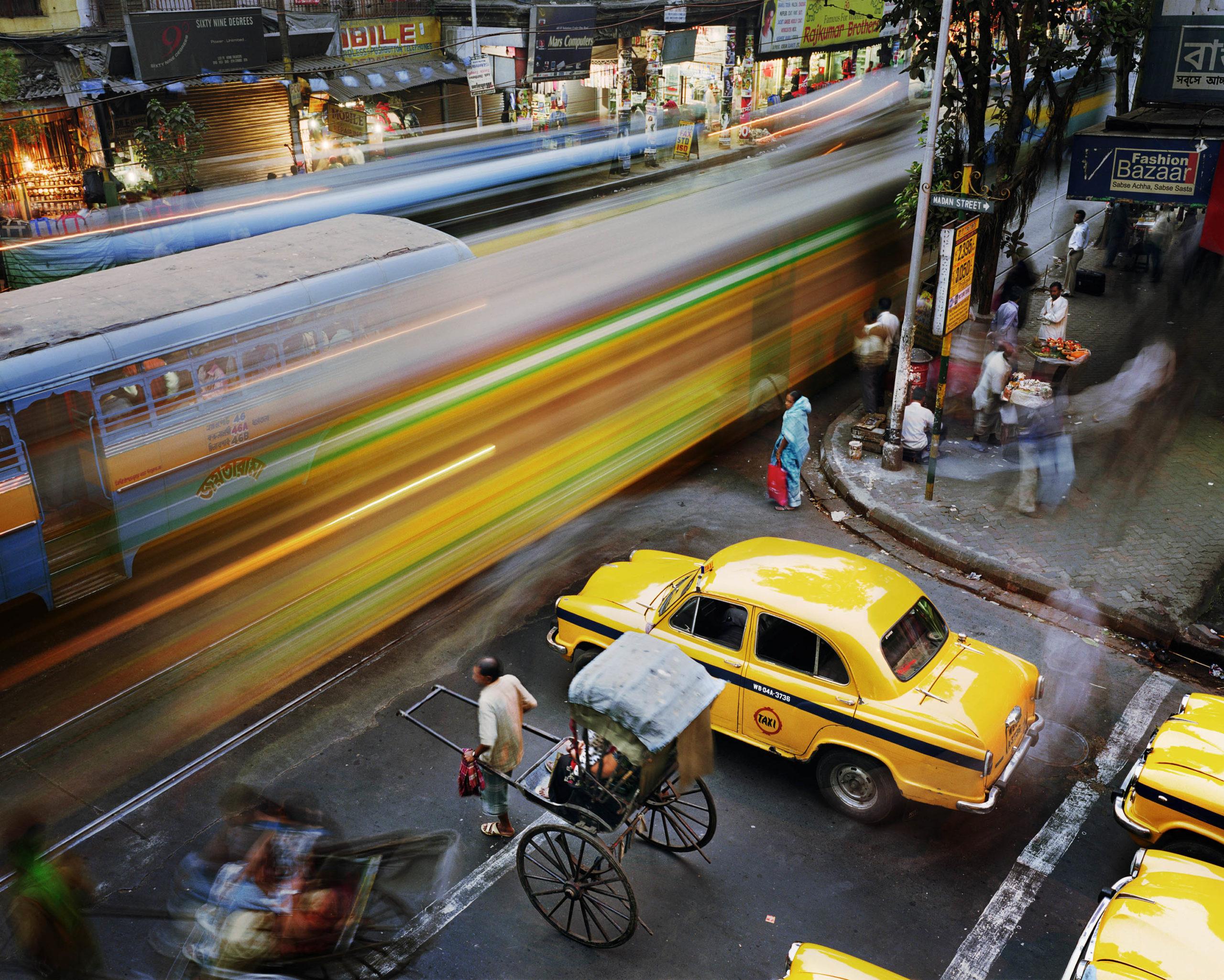 Madan Street and Lenin Sarani, Chandni Chowk, Kolkata, India