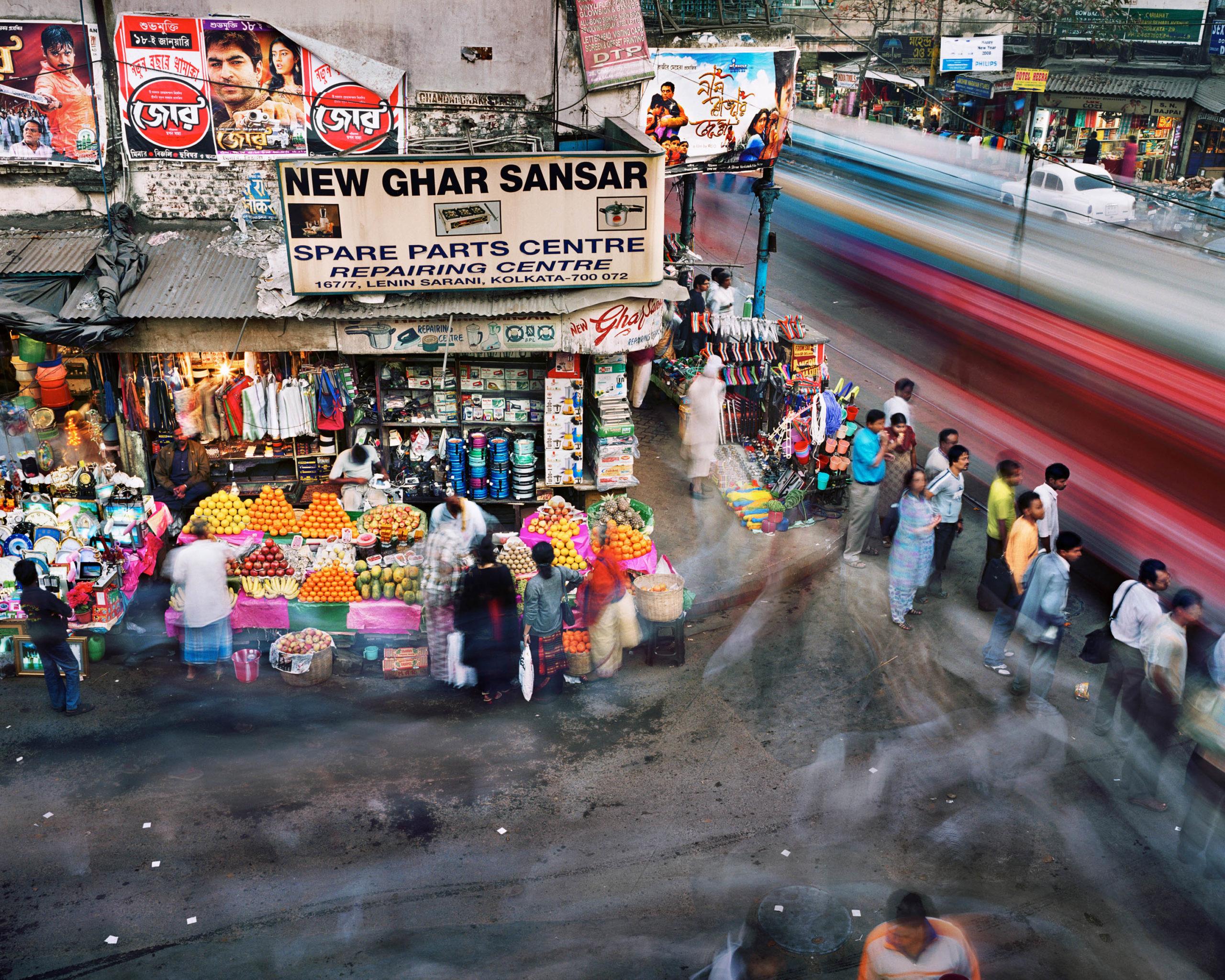 Chandni Chowk Street and Lenin Sarani, Chandni Chowk, Kolkata, India
