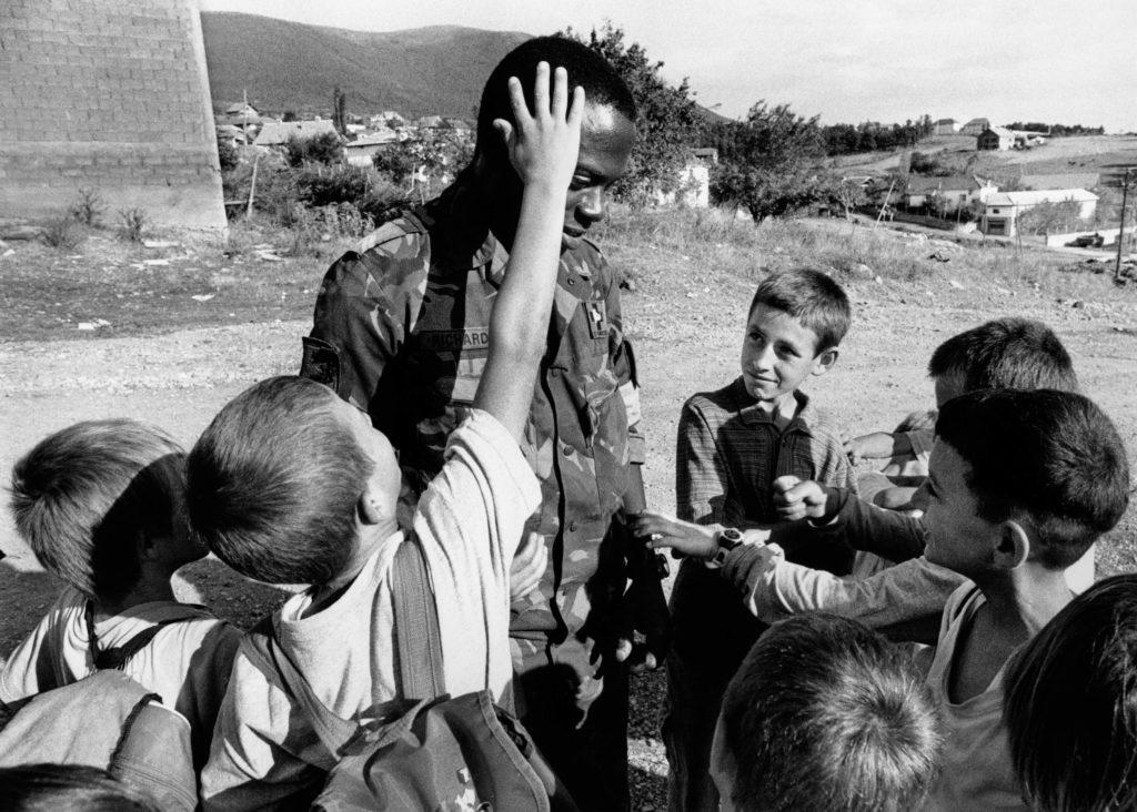 Dutch soldier. Pusto Selo, Kosovo, 1999