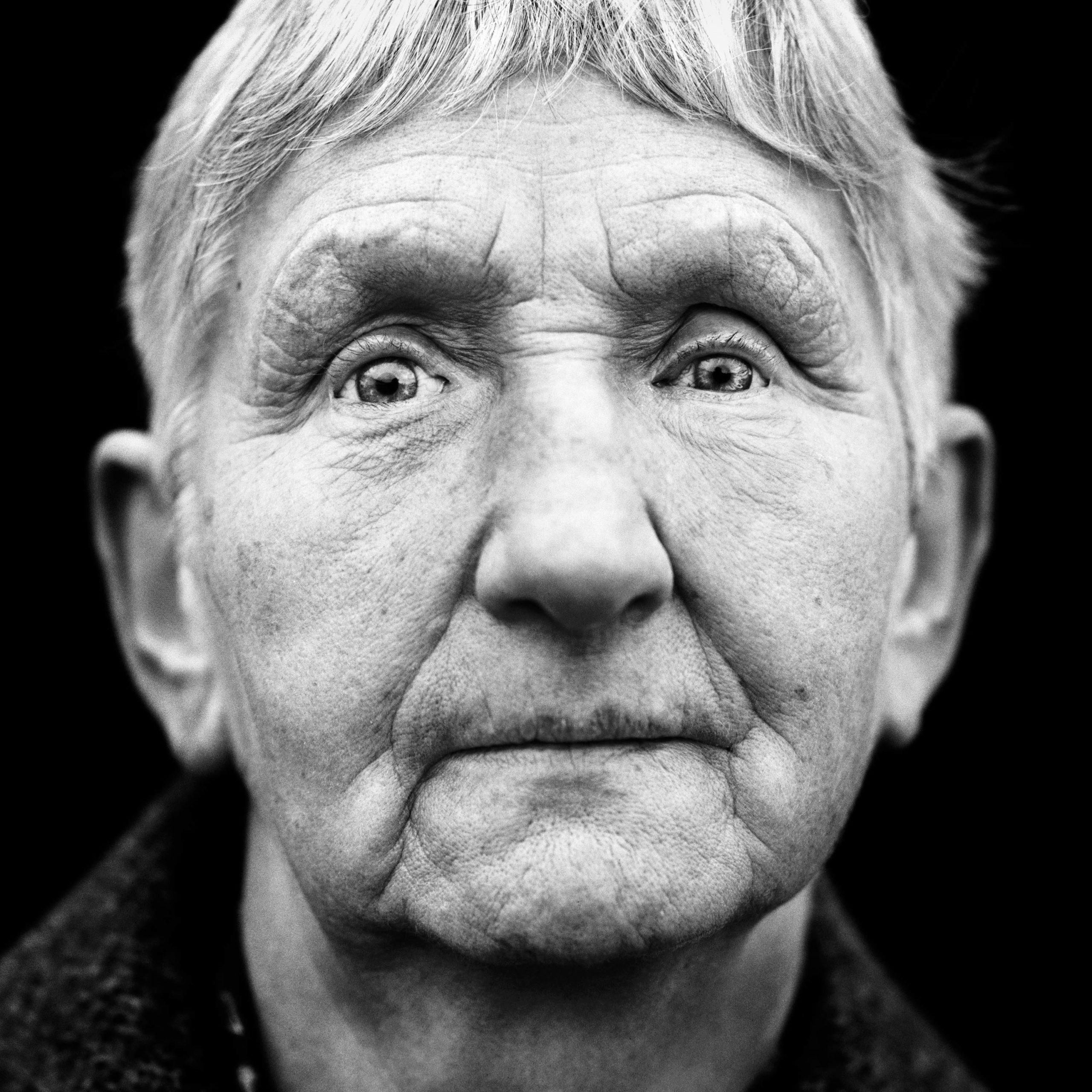 """Annemarie May (Germany, 1932). Interview outtake: """"I can no longer see the difference between light and dark. I feel like I'm living in a prison."""""""