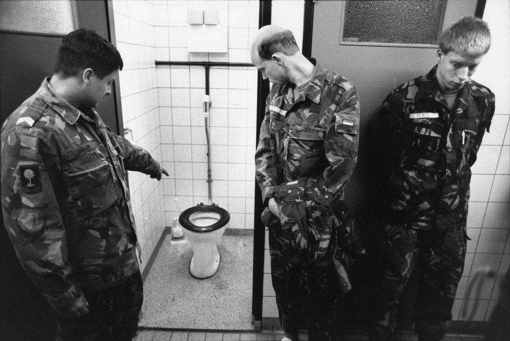Toilet cleaning instruction. Amersfoort, Netherlands, 1995