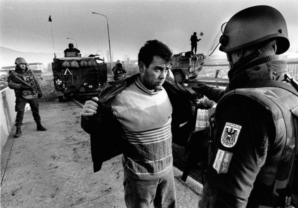 Austrian troop checkpoint. Mitrovica, Kosovo, 1999