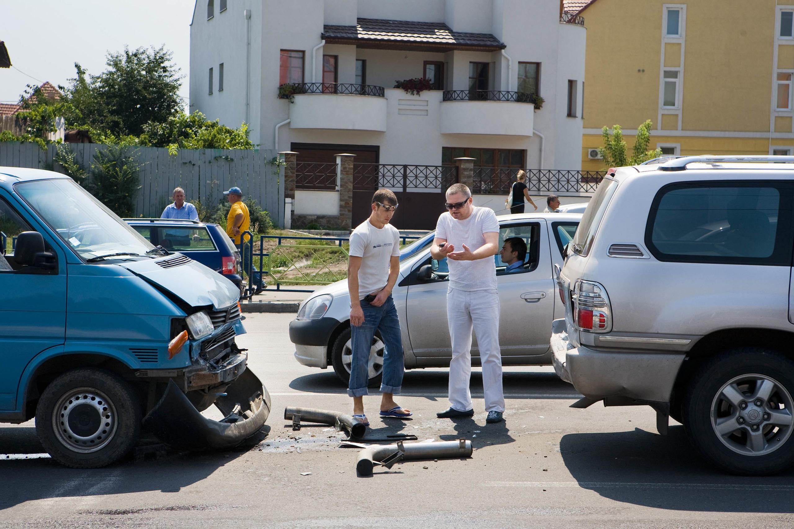 Crash #1, Volkswagen vs. Toyota. Chisinau, Moldova, 2008