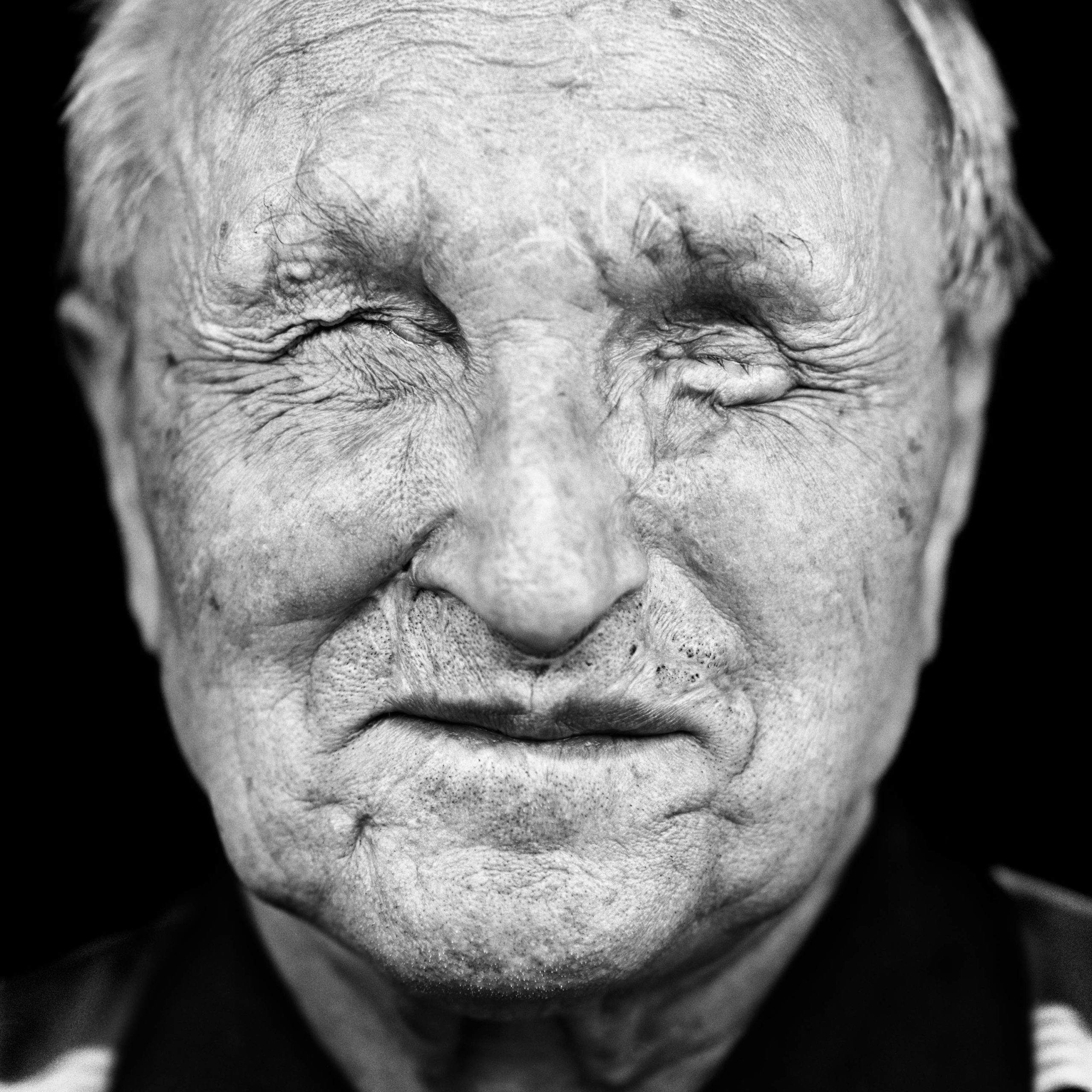 """Valeriy Nezemskiy (USSR, 1932). Interview outtake: """"I got fragments in my face and was flung against the wall by the blast. I could hear nothing. I felt blood, and then I lost consciousness."""""""