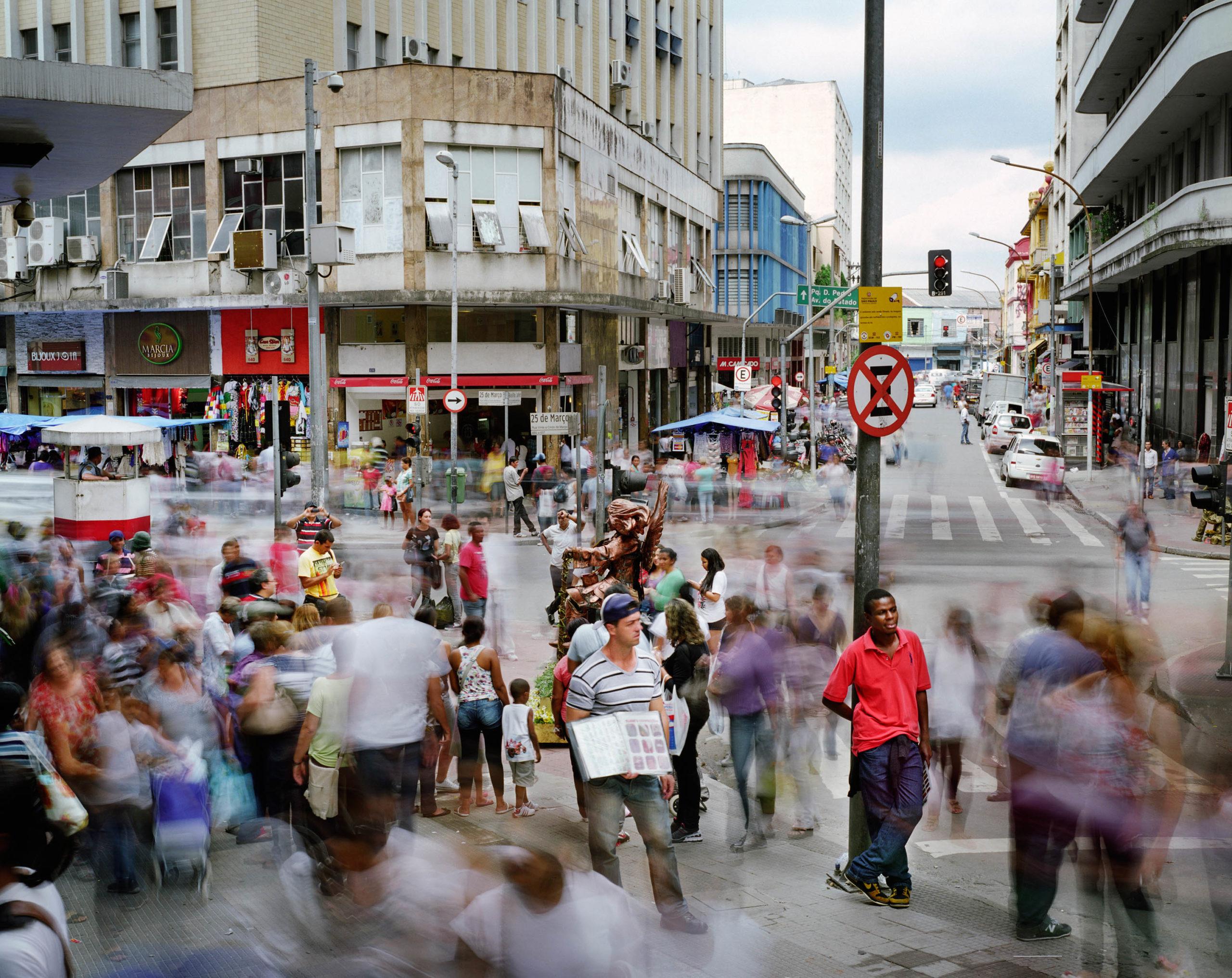 Rua 25 de Marco and Ladeira Porto Geral, Se, Sao Paulo, Brazil
