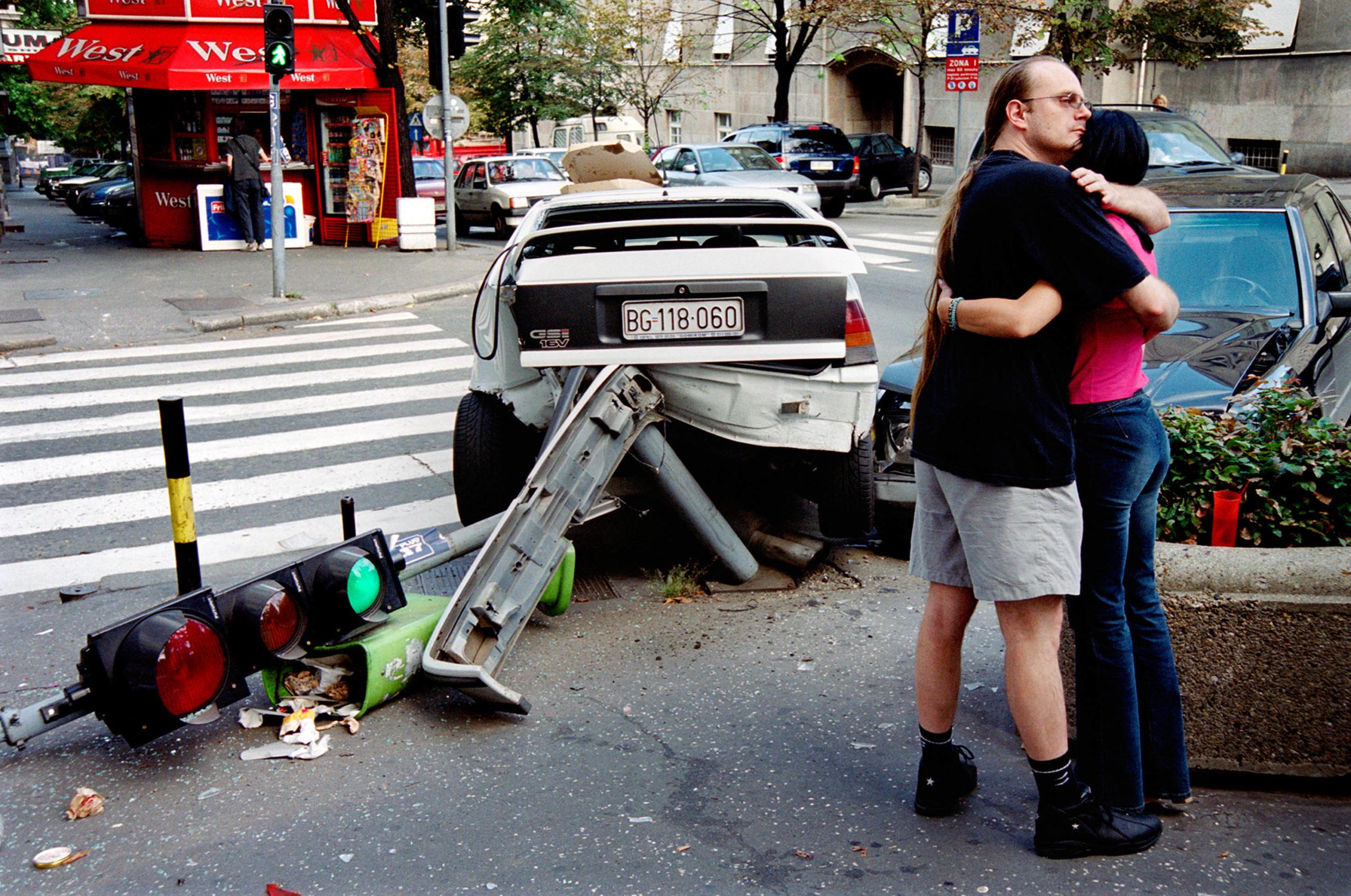 Crash #2, Opel vs. Mercedes. Belgrade, Serbia, 2004
