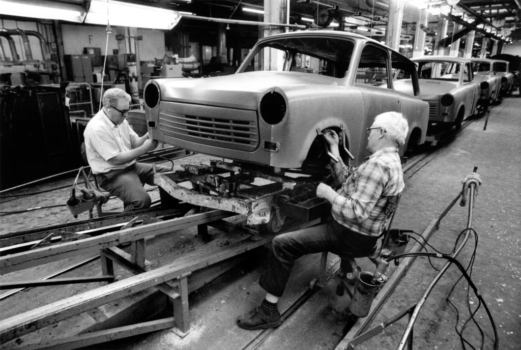 Finishing the wings, 1990